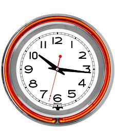 "Double Ring 14"" Neon Clock"