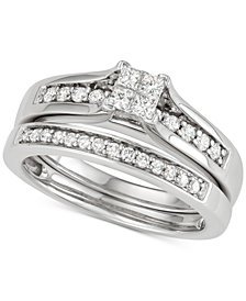Diamond Princess Bridal Set (1/2 ct. t.w.) in 14k White Gold