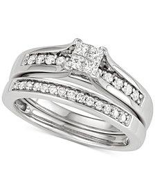 Diamond Princess Bridal Set (1/2 ct. t.w.) in 14k White Gold