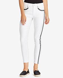 Lauren Ralph Lauren Striped Skinny Jeans