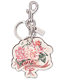 COACH Boxed Leather Bouquet Bag Charm