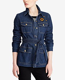 Lauren Ralph Lauren Bullion-Patch Denim Jacket