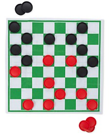 25-Pc. Giant Checkers & Tic Tac Toe Game Set