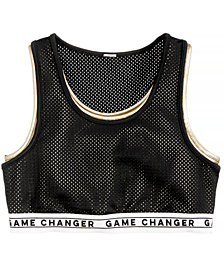 Ideology Big Girls Plus Game Changer Mesh Sports Bra, Created for Macy's