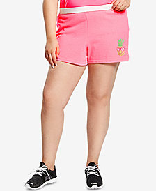 Soffe Plus Size Graphic-Print Active Shorts