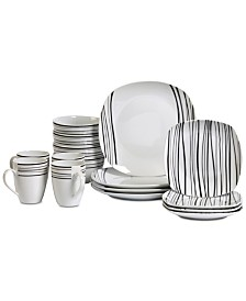 Tabletops Unlimited Justin 16-Pc. Dinnerware Set, Service for 4