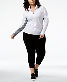Calvin Klein Performance Plus Size Honeycomb Mesh Jacket & Leggings