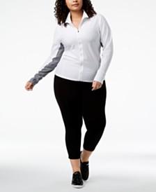 Calvin Klein Performance Plus Size Honeycomb Mesh Jacket & Leggings