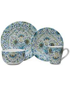 Aisha Blue 16-Pc. Dinnerware Set, Service for 4