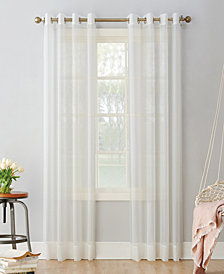 "No. 918 Sheer Voile 59"" x 63"" Grommet Top Curtain Panel"