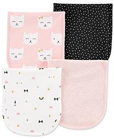 Carter's Baby Girls 4-Pack Printed Burp Cloths