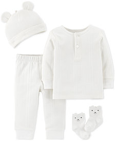 Carter's Baby Boys or Girls 4-Pc. Cotton Take Me Home Set