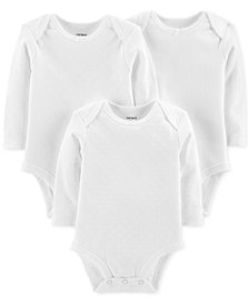 Carter's Baby Boys or Girls 3-Pack Cotton Bodysuits
