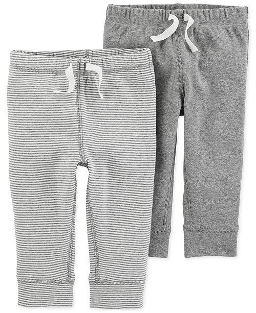 2d79f5012b Carter's Baby Boys 2-Pk. Cotton Jogger Pants & Reviews - Leggings ...