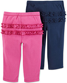 Carter's Baby Girls 2-Pk. Ruffle-Trim Cotton Leggings