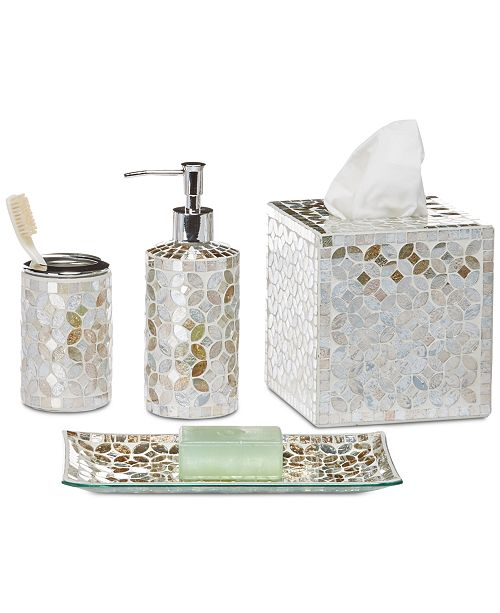 Jla Home Cape Mosaic Bath Accessories Created For Macy S
