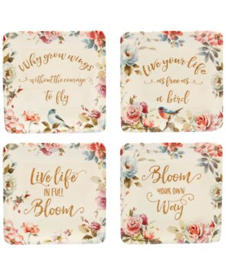 Beautiful Romance Canapé Plates, Set of 4