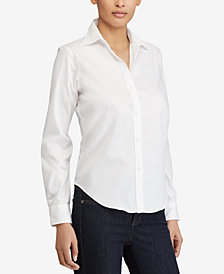 Lauren Ralph Lauren Petite Long Sleeve Non-Iron Shirt
