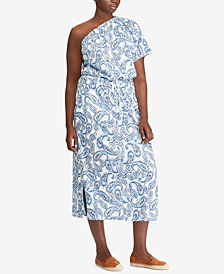 Lauren Ralph Lauren Plus Size Printed Cotton Dress, Created for Macy's