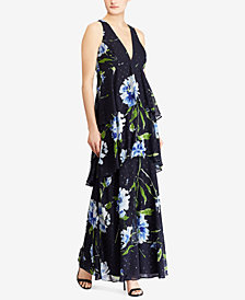Lauren Ralph Lauren Floral-Print Tiered Maxi Dress, Created for Macy's