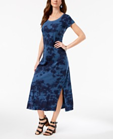 Style & Co Printed Scoop-Neck Maxi Dress, Created for Macy's