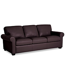 "Orid 82"" Leather Sofa, Created for Macy's"