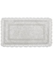 "Laura Ashley Crochet Cotton Reversible 21"" x 34"" Bath Rug"
