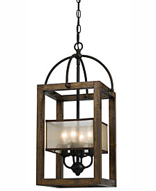 Cal Lighting 4-Light Large Mission Chandelier