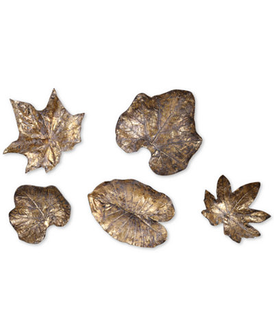 Uttermost 5-Pc. Bronze-Tone Leaves Wall Art Set