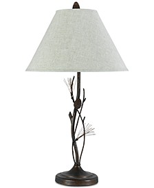150W 3-Way Pine Twig Iron Table Lamp