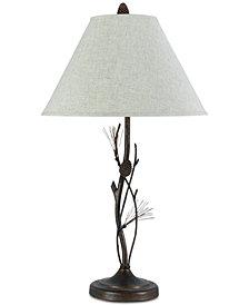 Cal Lighting 150W 3-Way Pine Twig Iron Table Lamp