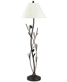 150W 3-Way Pine Twig Iron Floor Lamp