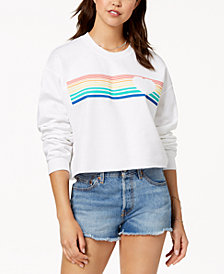 Love Tribe Juniors' Rainbow Graphic-Print Sweatshirt