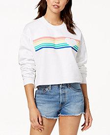 Love Tribe Juniors' Rainbow Graphic-Print Sweatshirt