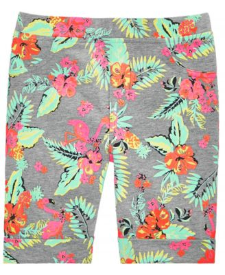 Toddler Girls Tropical-Print Bermuda Shorts, Created for Macy's