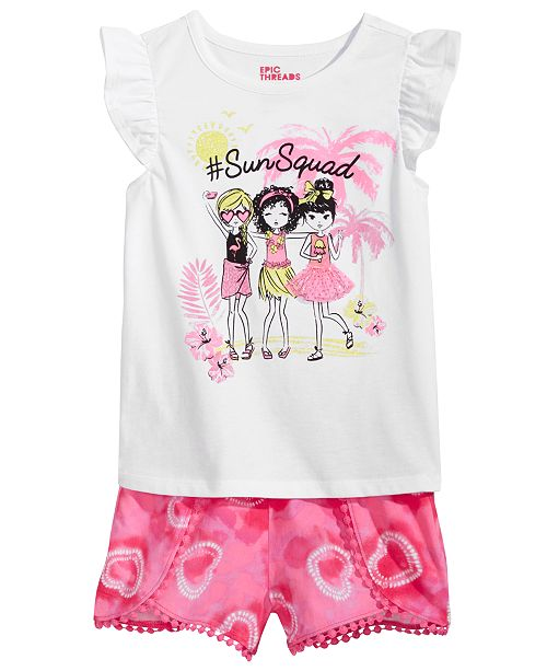 Toddler Girls T-Shirt & Shorts, Created for Macy's