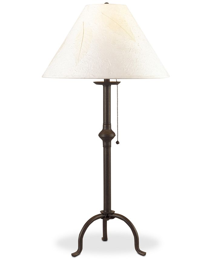 Cal Lighting - 75W Iron Table Lamp with Pull Chain