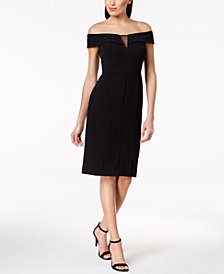 Vince Camuto Off-The-Shoulder Sheath Dress