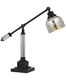Cal Lighting Metal Desk Lamp with Glass Shade