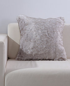 "Berkshire Wolf Faux-Fur 18"" Square Fashion Decorative Pillow"