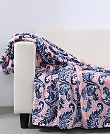 "Bold Blooms VelvetLoft® 50"" x 60"" Throw"