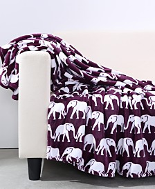 "Berkshire Prancing Elephant VelvetLoft® 50"" x 60"" Throw"