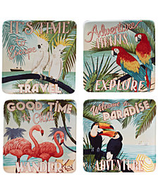 Certified International Paradise Dessert Plates, Set of 4