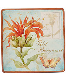 "Certified International Herb Blossom 12.5"" Square Platter"