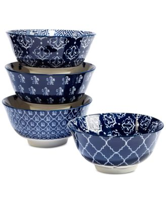 4-Pc. Blue Indigo Tidbit Bowls Set