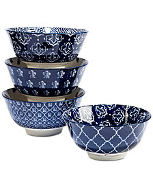 Certified International 4-Pc. Blue Indigo Tidbit Bowls Set