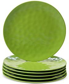 6-Pc. Green Melamine Dinner Plate Set