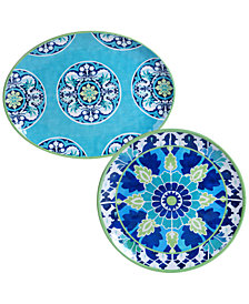Certified International Granada 2-Pc. Platter Set