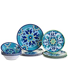 Granada Melamine 12-Pc. Dinnerware Set, Service for 4