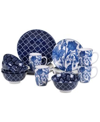16-Pc. Blue Indigo Dinnerware Set